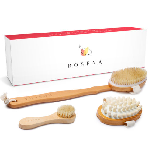Rosena Dry Brushing Body Brush Set